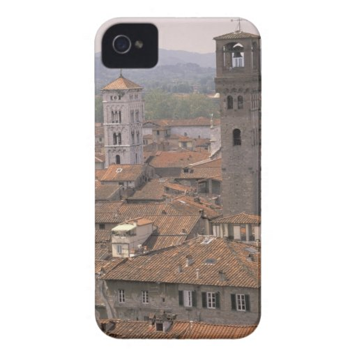 Europe, Italy, Tuscany, Lucca, Town panorama Blackberry Bold Case