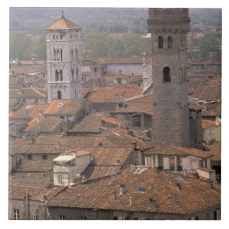 Europe, Italy, Tuscany, Lucca, Town panorama Ceramic Tile