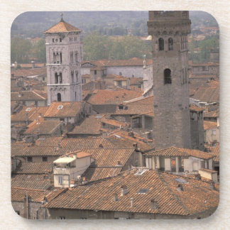 Europe, Italy, Tuscany, Lucca, Town panorama Coaster