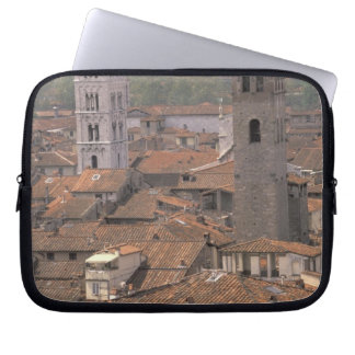 Europe, Italy, Tuscany, Lucca, Town panorama Computer Sleeve