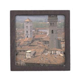 Europe, Italy, Tuscany, Lucca, Town panorama Jewelry Box