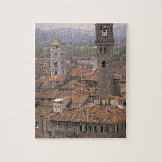 Europe, Italy, Tuscany, Lucca, Town panorama Jigsaw Puzzle