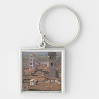 Europe Italy Tuscany Lucca Town panorama Keychains