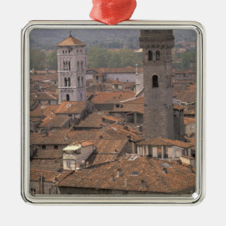 Europe, Italy, Tuscany, Lucca, Town panorama Metal Ornament