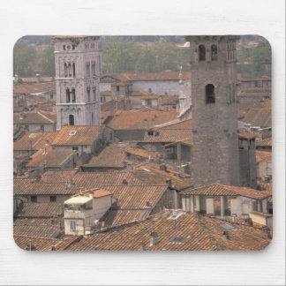 Europe, Italy, Tuscany, Lucca, Town panorama Mouse Pad