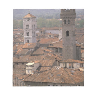 Europe, Italy, Tuscany, Lucca, Town panorama Notepad