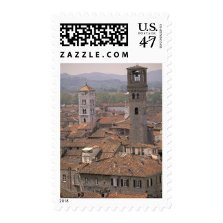 Europe, Italy, Tuscany, Lucca, Town panorama Postage