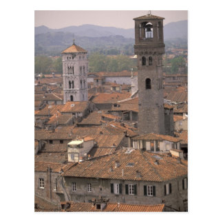 Europe, Italy, Tuscany, Lucca, Town panorama Postcard