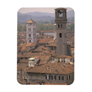 Europe Italy Tuscany Lucca Town panorama Flexible Magnet