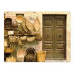 Europe, Italy, Tuscany, Montalcino. Basket Postcard