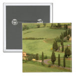 Europe, Italy, Tuscany, Monticchiello. Curvy 2 Inch Square Button