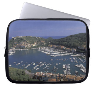 Europe, Italy, Tuscany, Porto Ercole, View of Laptop Computer Sleeves