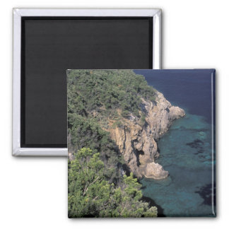 Europe, Italy, Tuscany. Rocky coast; Cala Fridge Magnet