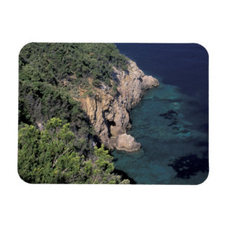 Europe, Italy, Tuscany. Rocky coast; Cala Rectangle Magnet