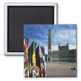 Europe, Italy, Tuscany, Siena. Piazza del 2 Inch Square Magnet