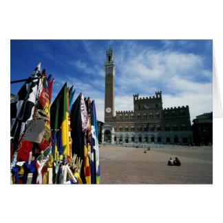 Europe, Italy, Tuscany, Siena. Piazza del Card