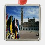 Europe, Italy, Tuscany, Siena. Piazza del Christmas Ornaments