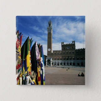 Europe, Italy, Tuscany, Siena. Piazza del Pinback Button
