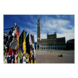 Europe, Italy, Tuscany, Siena. Piazza del Posters