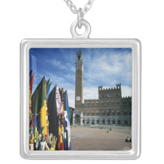 Europe, Italy, Tuscany, Siena. Piazza del Silver Plated Necklace