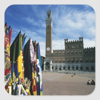 Europe, Italy, Tuscany, Siena. Piazza del Square Sticker