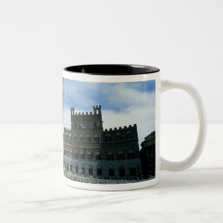 Europe, Italy, Tuscany, Siena. Piazza del Two-Tone Coffee Mug