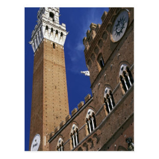 Europe, Italy, Tuscany, Siena. Torre del Postcard