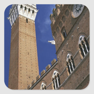 Europe, Italy, Tuscany, Siena. Torre del Square Sticker