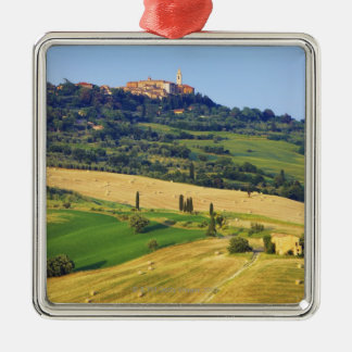 Europe, Italy, Tuscany, Val d'Orcia, Pienza - 2 Metal Ornament