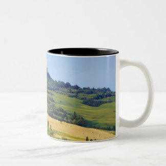 Europe, Italy, Tuscany, Val d'Orcia, Pienza - 2 Two-Tone Coffee Mug