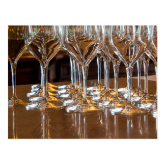 Europe, Italy, Tuscany. Wine glasses in a winery Postcard