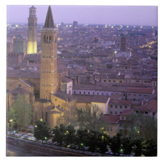 Europe, Italy, Veneto, Verona. View from Castel Ceramic Tile