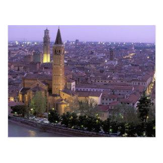 Europe, Italy, Veneto, Verona. View from Castel Postcard