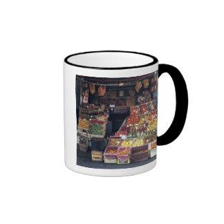 Europe, Italy, Venice area. Colorful fruits and Ringer Coffee Mug