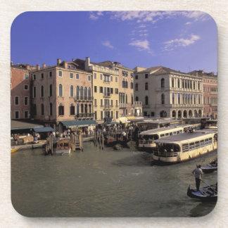 Europe Italy Venice Boat traffic by Rialto Beverage Coaster