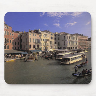 Europe, Italy, Venice, Boat traffic by Rialto Mouse Pad