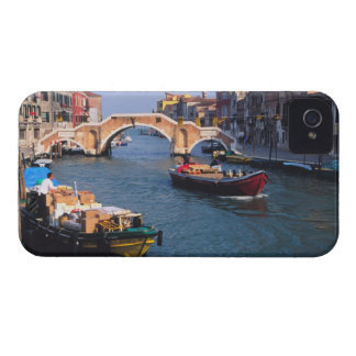 Europe, Italy, Venice. Boats bringing in iPhone 4 Case-Mate Case