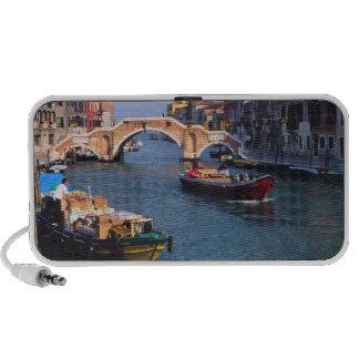 Europe, Italy, Venice. Boats bringing in Speaker