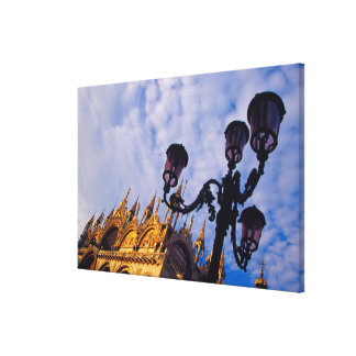 Europe, Italy, Venice. Byzantine Basilica and Stretched Canvas Prints
