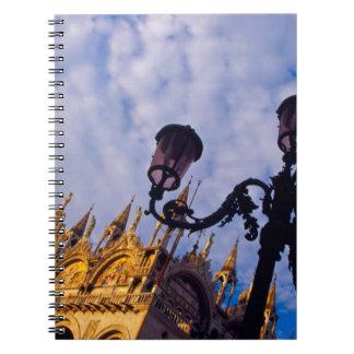 Europe, Italy, Venice. Byzantine Basilica and Notebook