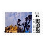 Europe, Italy, Venice. Byzantine Basilica and Stamp