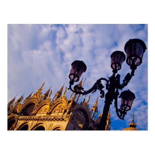Europe, Italy, Venice. Byzantine Basilica and Postcard