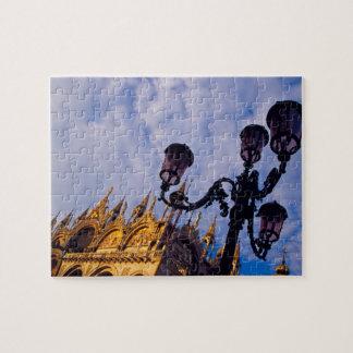Europe, Italy, Venice. Byzantine Basilica and Puzzle