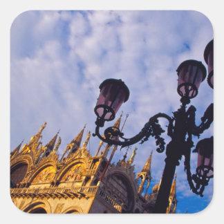 Europe, Italy, Venice. Byzantine Basilica and Sticker