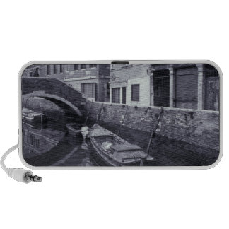 Europe, Italy, Venice. Canal, Dorsoduro; winter Travelling Speakers