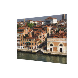 Europe, Italy, Venice. Canal views. UNESCO Canvas Print