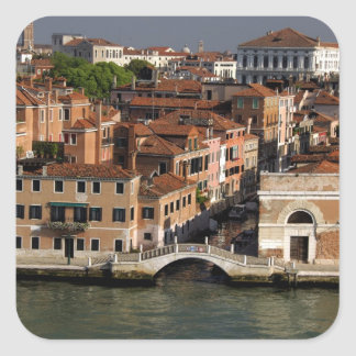 Europe, Italy, Venice. Canal views. UNESCO Square Sticker