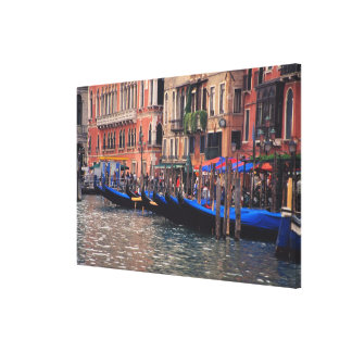Europe, Italy, Venice, gondolas in canal Canvas Print