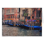 Europe, Italy, Venice, gondolas in canal Greeting Card