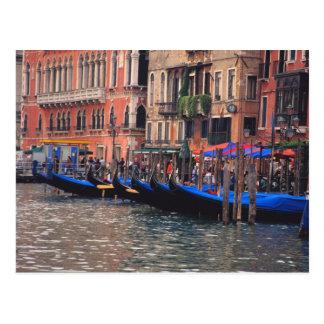 Europe, Italy, Venice, gondolas in canal Postcard